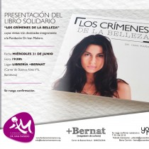 """Presentación solidaria del libro """"Los crímenes de la Belleza"""""""
